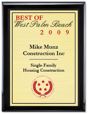 2009 Best Local Business Plaque
